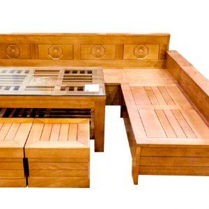 bộ salon gỗ bích 5 món