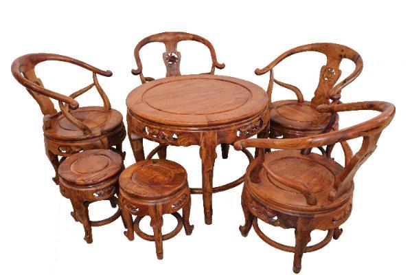 Bộ bàn ghế gỗ 8 món