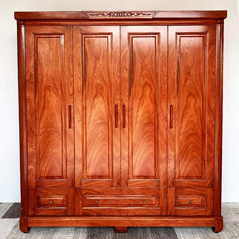 tủ quần áo gỗ hương đá 4 cánh